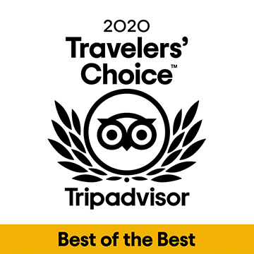 Trip Advisor Travellers Choice Best of the Best Award 2020